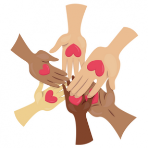 Collection of hands in a circle
