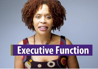 """photo of Tracey Marks, MD with text """"executive function"""""""